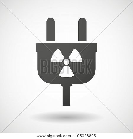 Isolated Plug Icon With A Radio Activity Sign