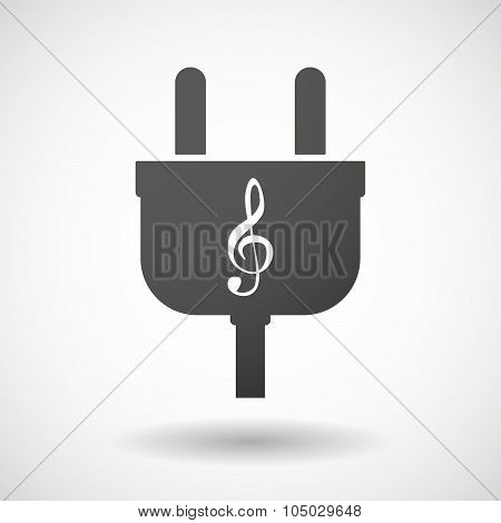 Isolated Plug Icon With A G Clef
