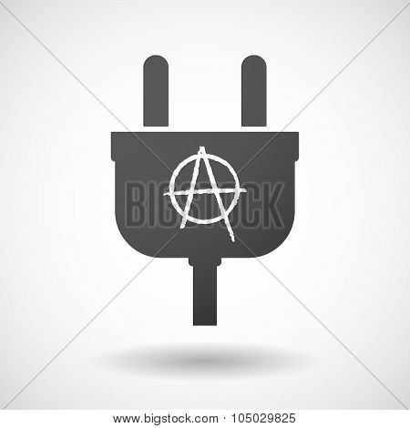Isolated Plug Icon With An Anarchy Sign