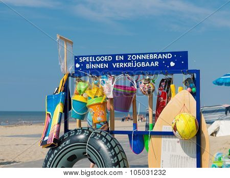Beach Shop With Swim Articles