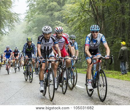 The Peloton In A Misty Day - Tour De France 2014