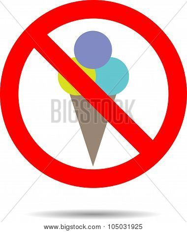 Ban Ice Cream Sign