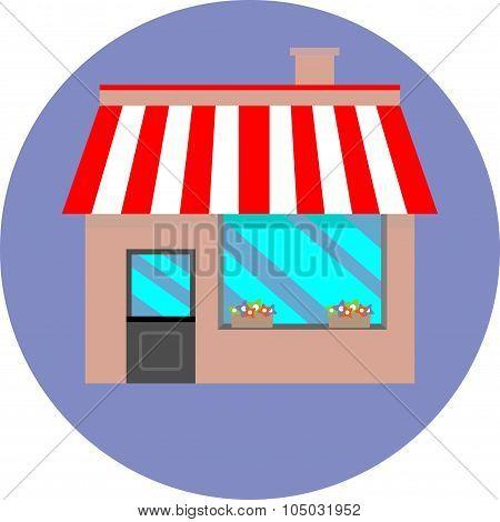 Icon Shop Building Retail