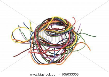 Close Up Photo Of Multicoloured Wire