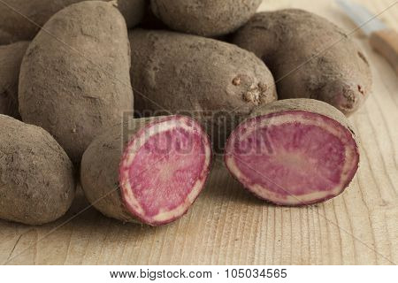Fresh raw Highland Burgundy Red potatoes
