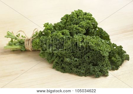 Bouquet of fresh picked organic curly kale