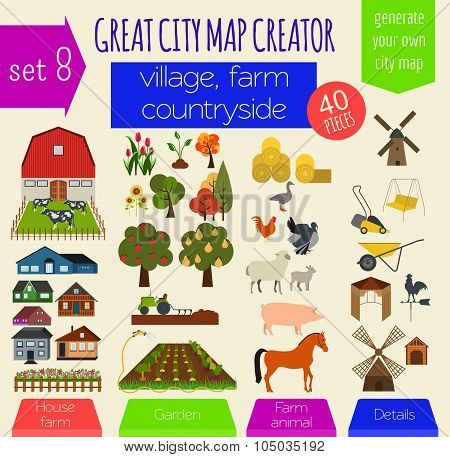 Great city map creator. House constructor. House, cafe, restaurant, shop, infrastructure, industrial