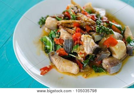 Stir Fried Spicy Mekong River Fish