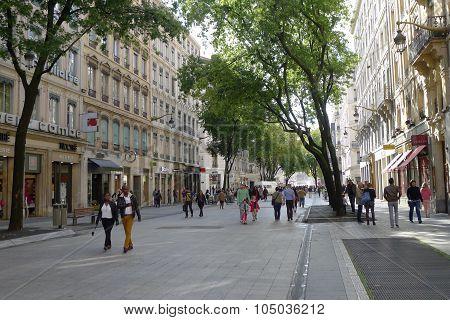 Rue de la République in Lyon