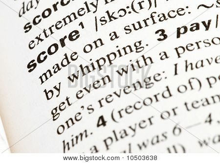 Score Word