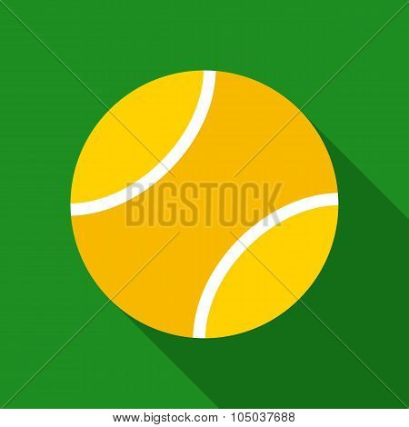 Tennis Ball in Flat Style