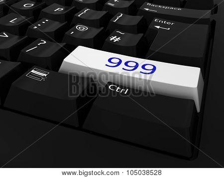 Blue And White 999 Key Keyboard Background