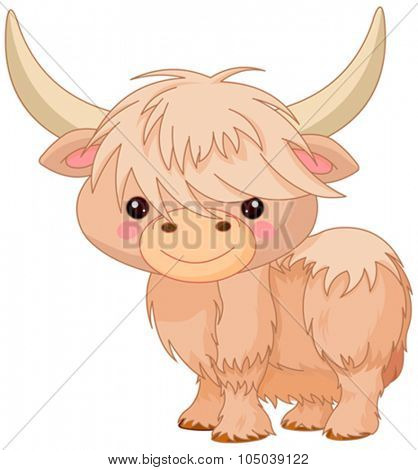 Illustration of cute yak
