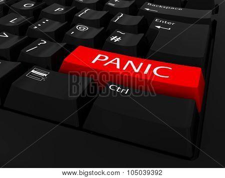 Red Panic Key Keyboard Background