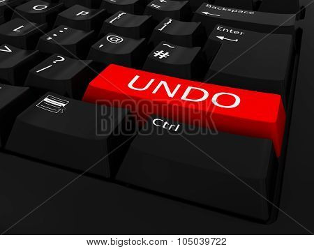 Red Undo Key Keyboard Background
