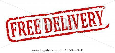 Stamp With The Words Free Delivery