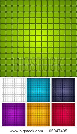 Tiled Seamless Vector Background. Several Color Options