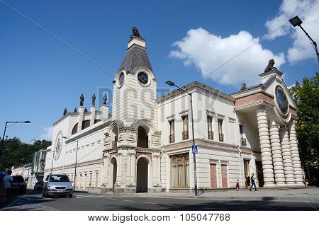 View of Kutaisi Opera Housebeautiful building in art nouveau style located at Kaukhchishvili street