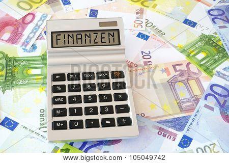 The Word Finance On Calculator Display