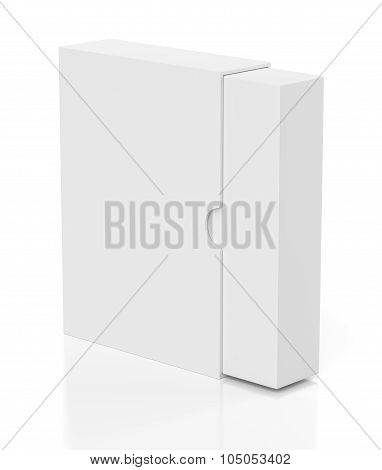 Opening Box With Slide Cover Isolated On White