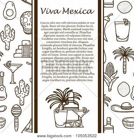 Vector Mexico travel concept