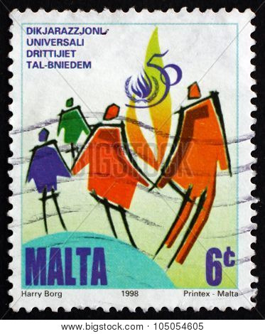 Postage Stamp Malta 1998 Symbolic People