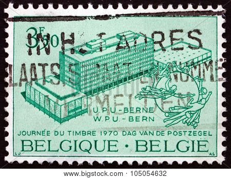 Postage Stamp Belgium 1970 Upu Headquarters And Monument