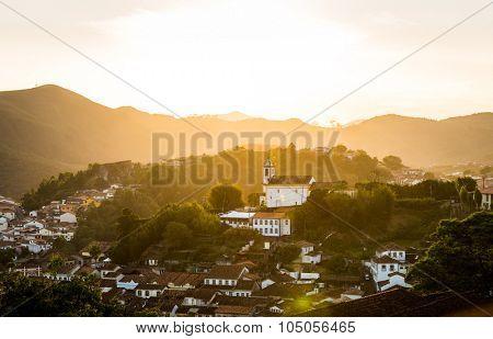 The city of Ouro Preto, Minas Gerais, Brazil