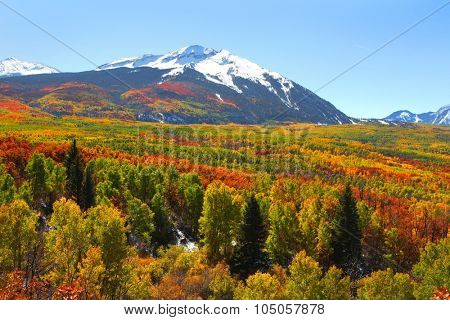 West Beckwith peak in autumn time at Kebler pass Colorado