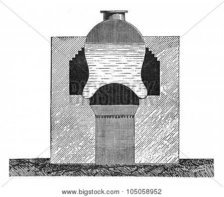 Boiler Watt, vintage engraved illustration. Industrial encyclopedia E.-O. Lami - 1875.