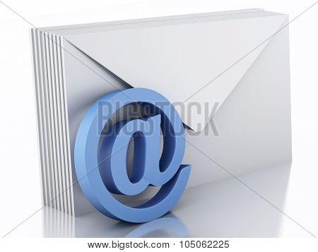3D Envelopes With E-mail Sign
