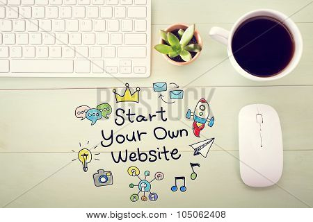 Start Your Own Website Concept With Workstation