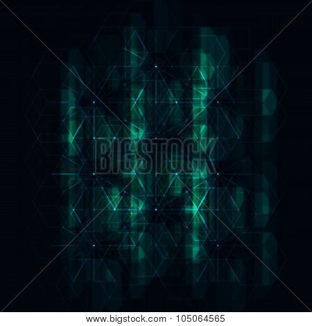 Abstract Futuristic Hexagonal Background