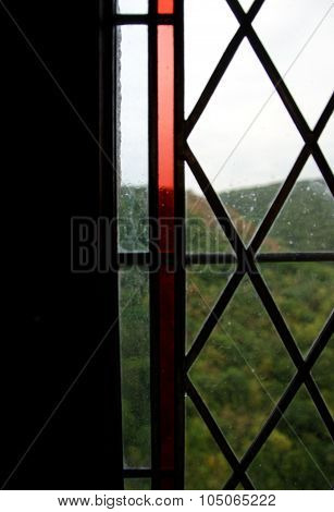 Ruby Window In The Tower Of Karlstein Castle