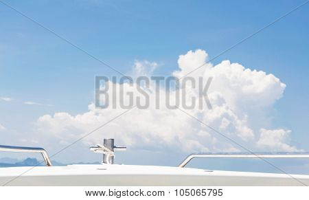 Stainless Pole On The Speedboat
