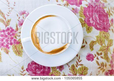Cappuccino And Milk Foam