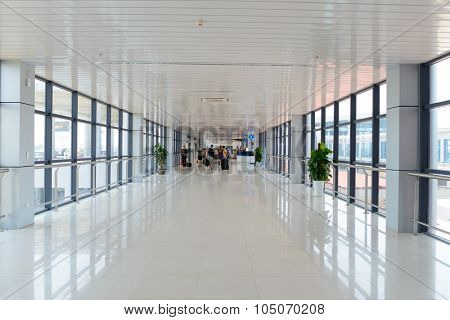 HANOI, VIETNAM - MAY 11, 2015: Noi Bai Airport interior. Noi Bai International Airport is the largest airport in Vietnam. It is the main airport serving Hanoi, replacing the role of Gia Lam Airport