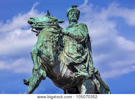 Bogdan Khmelnitsky Equestrian Statue Sofiyskaya Square Kiev Ukraine