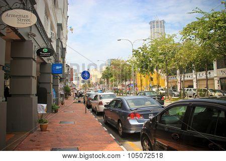 Bright Sunny Penang Street Scene