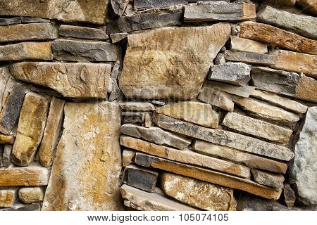 Background of exactly hewn stone
