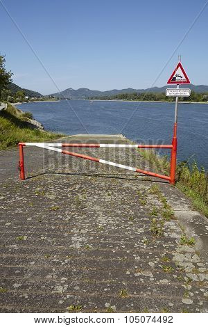 Rolandseck (remagen, Germany) - Boat Ramp Into The Rhine
