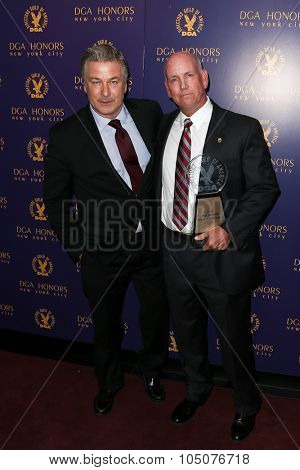 NEW YORK-OCT 15: Actor Alec Baldwin (L) and Local 817 Teamsters President Thomas J. O'Donnell attend the DGA Honors Gala 2015 at the DGA Theater on October 15, 2015 in New York City.