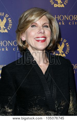 NEW YORK-OCT 15: Actress Christine Baranski attends the DGA Honors Gala 2015 at the DGA Theater on October 15, 2015 in New York City.