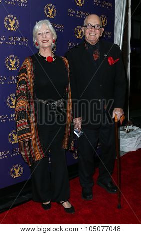 NEW YORK-OCT 15: Actress Jane Alexander (L) and husband Edwin Sherin attend the DGA Honors Gala 2015 at the DGA Theater on October 15, 2015 in New York City.