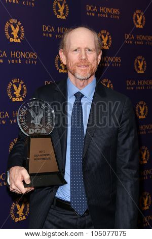 NEW YORK-OCT 15: Director Ron Howard attends the DGA Honors Gala 2015 at the DGA Theater on October 15, 2015 in New York City.