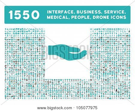 Share Icon and More Interface, Business, Tools, People, Medical, Awards Flat Glyph Icons