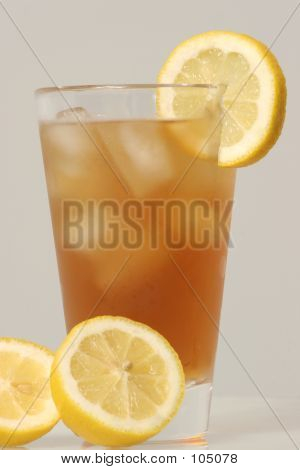 Cold Glass Of Ice Tea