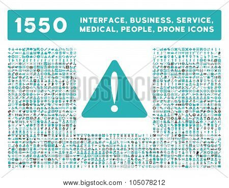Warning Error Icon and More Interface, Business, Tools, People, Medical, Awards Flat Glyph Icons