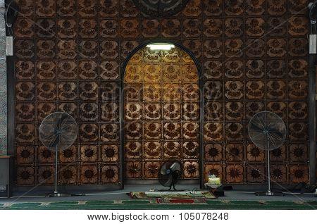 Mihrab of Kuching Town Mosque a.k.a Masjid Bandaraya Kuching in Sarawak, Malaysia