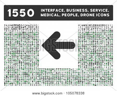 Arrow Left Icon and More Interface, Business, Tools, People, Medical, Awards Flat Glyph Icons